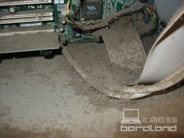 Dust build-up inside computer